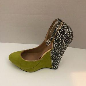 Women's Lime Just Fab Wedge Heel